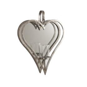 Lysestake for vegg hjerte enkel stor 39cm Varenummer: 06999