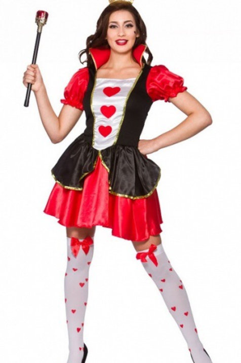 Ladies Wicked Queen of Hearts Costume. EF-2219 Wick