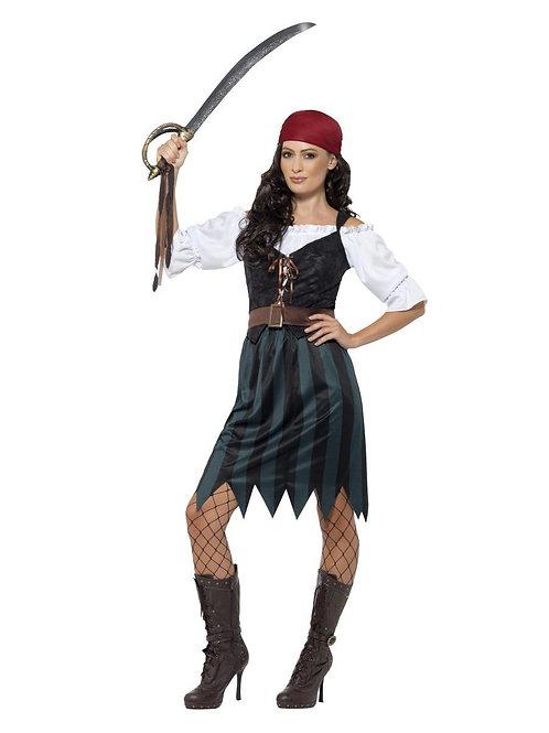 Pirate Deckhand Costume, with Skirt. 45491 Smiffys