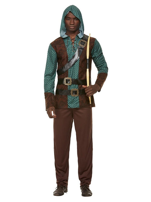 Deluxe Forest Archer Costume, Green. 70003 Smiffys