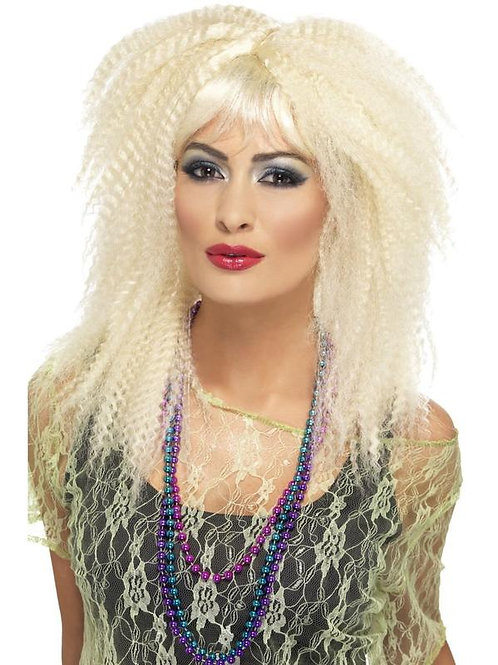 80s Trademark Crimp Wig, Blonde. 23160 S