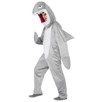 Shark Costume, Grey, with Bodysuit and Hood 43815 S
