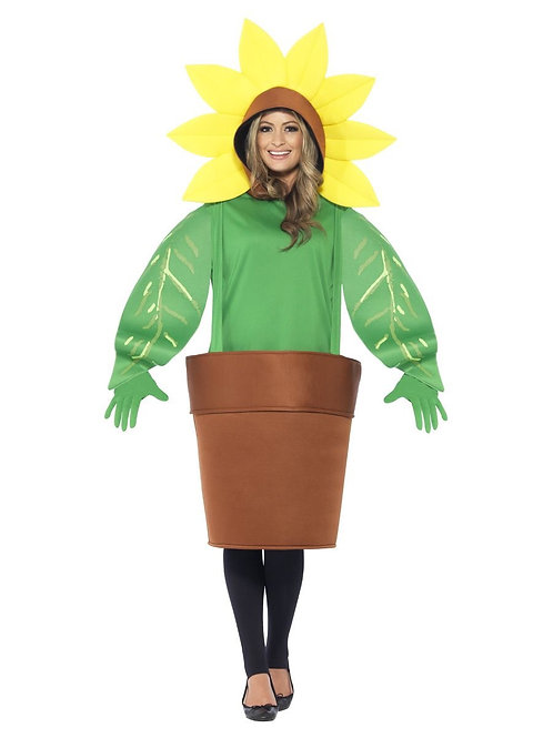 Sunflower Costume, with Top with Attached Hood, Green. 43409 S