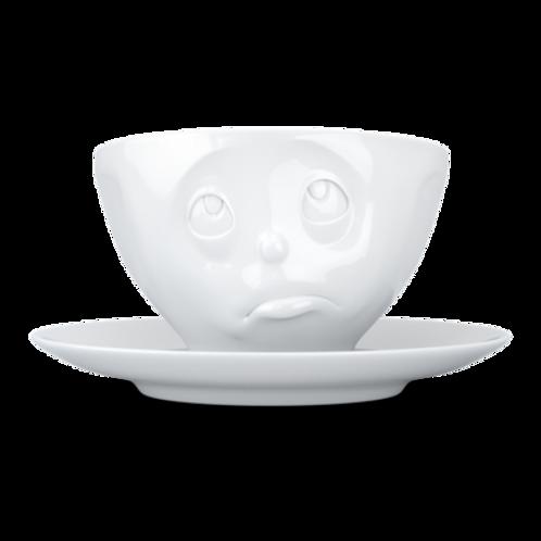 """Kaffekopp med fat """"Oh Please!"""""""