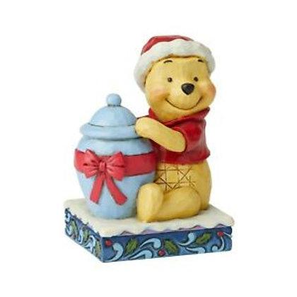 Winnie The Pooh Christmas Mini Figurine