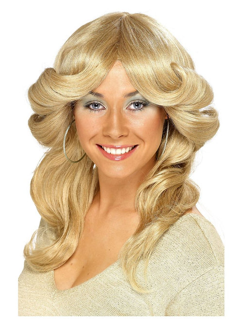 70s Flick Wig, Blonde, Long, Wavy & Layered. 42251 S