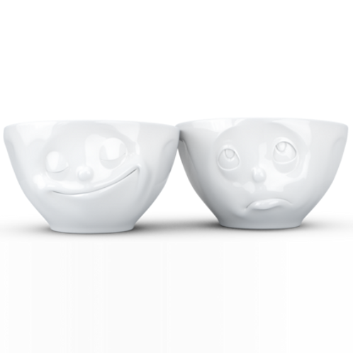 Medium bowls Set No.2 - happy & Oh please