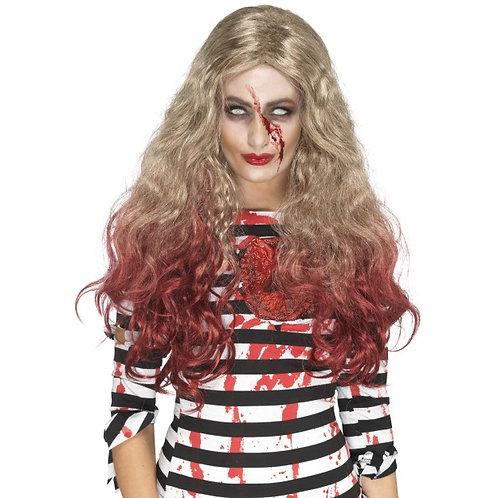 Deluxe Zombie Blood Drip Wig SKU: 46855