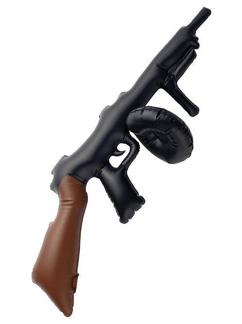 Inflatable Tommy Gun, Black, 75cm / 30in. 34761 S