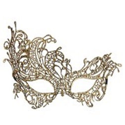 Antique Gold Baroque Lace Eyemask. 04771 W