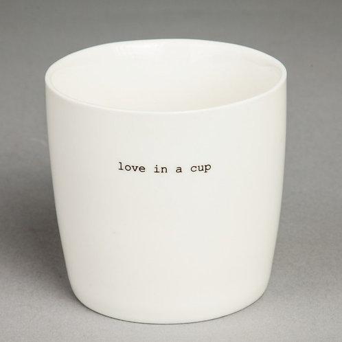 """KRUS HVIT """"LOVE IN A CUP"""""""