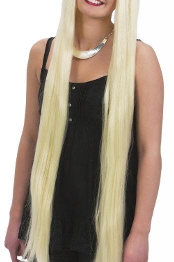Blond ekstra lang parykk