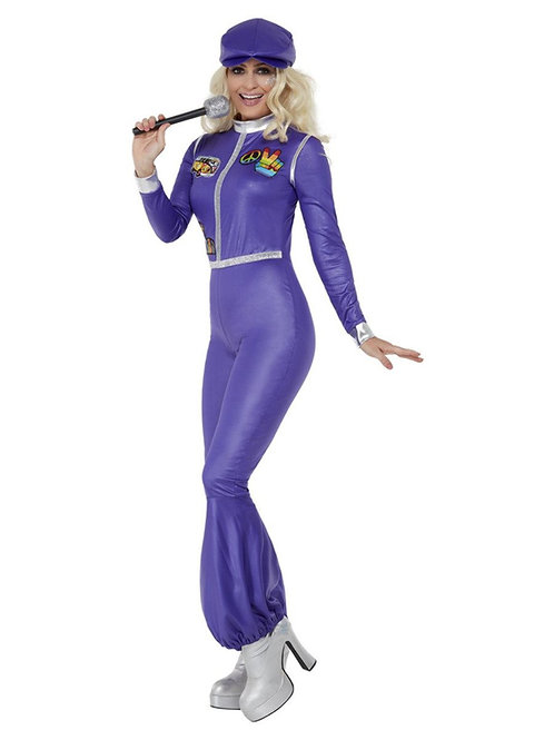 70s Dancing Queen Costume, Purple. 70039