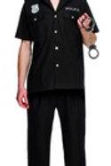 Fever Cop Costume, Black 31876 S