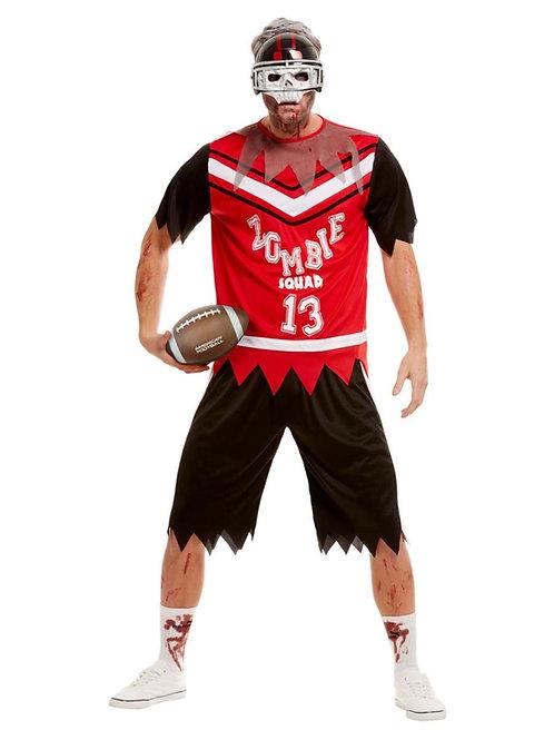 Zombie Footballer Costume, Red. 51065 S