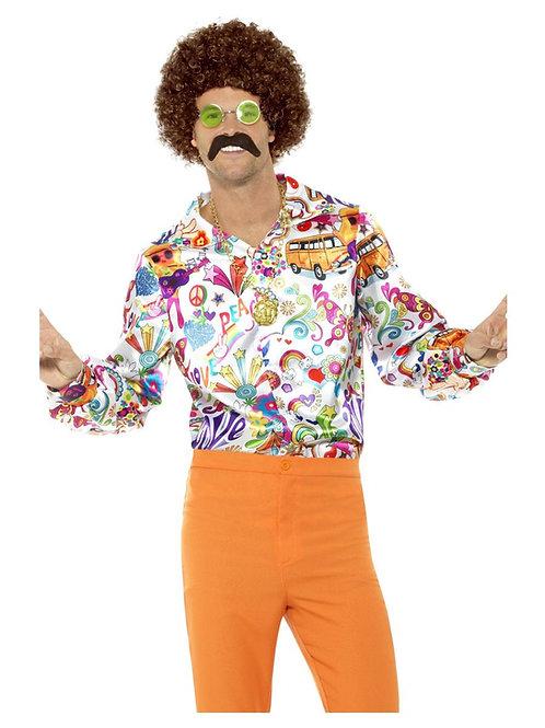 60s Groovy Shirt, Multi-Coloured. 44910 S
