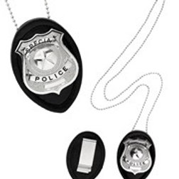"""""""CLIP ON POLICE BADGE NECKLACE"""". 05860 W"""