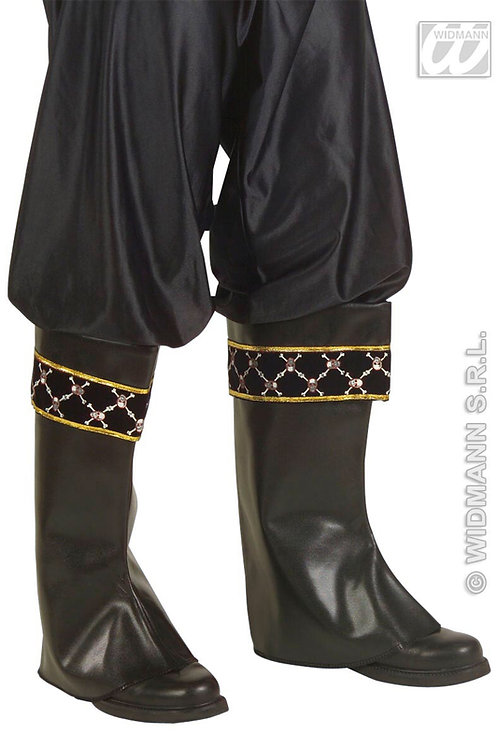 LEATHERLOOK PIRATE BOOT TOPS. 7096S W
