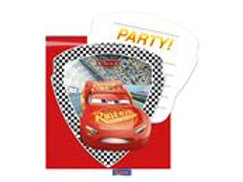 Invitations Cars 3/6 F 87802P