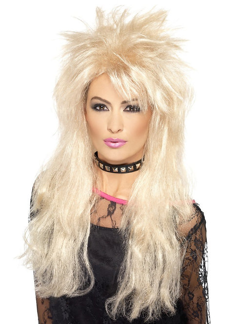 80s Long Mullet Wig. 43246 S