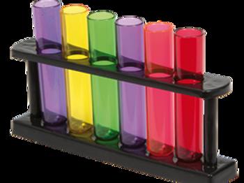 Shotglass, reagensrør - Inneholder 6 stk