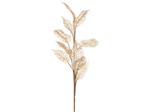 Kvist brun m/glittrende blad gull 75cm Varenr:109551