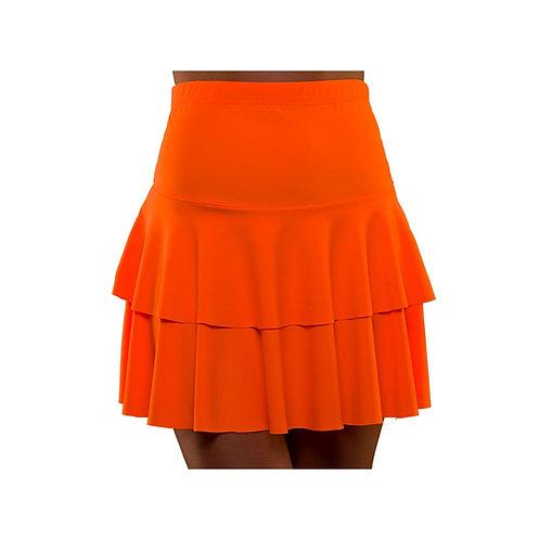 80's Neon Ra Ra Skirt - ORANGE EF-2257-O W