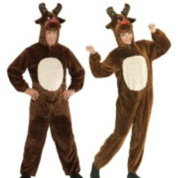 """REINDEER IN SOFT PLUSH"" (hooded jumpsuit ... W 97164"
