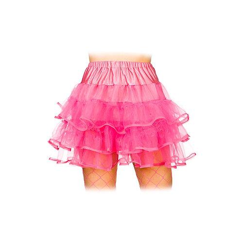 80's Ruffle tutus - Neon Pink. TS-7167 Wicked