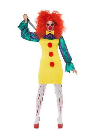 Classic Horror Clown Lady Costume S 47563