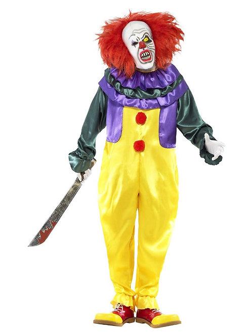Classic Horror Clown Costume, Multi-Coloured. 24376 S