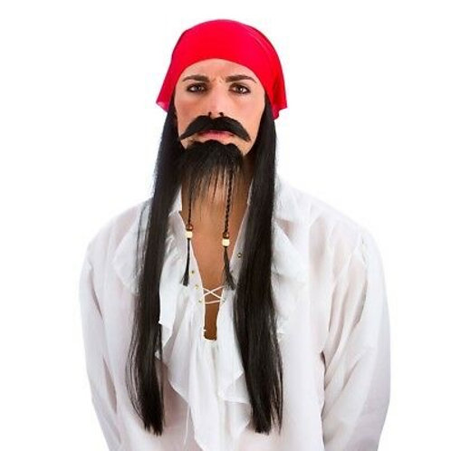 Black Beard Wig Kit EW-8185