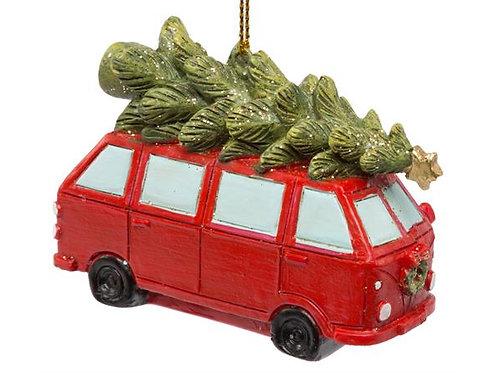 Folkevognbuss henge rød m/tre 7x2,5x5cm Varenr: 109051