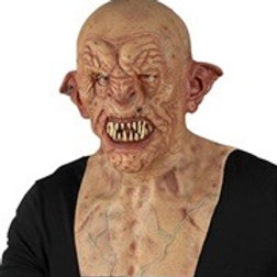"Silicone look ""ZOMBIE FULL HEAD MASK WITH NECK & CHEST"" . 01139 W"