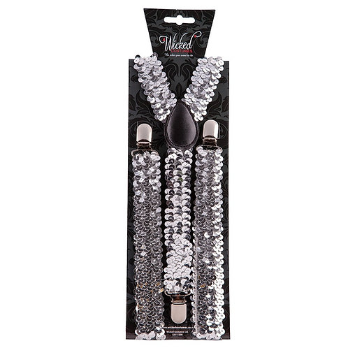 Braces - Silver Sequin. AC-9370 Wicked