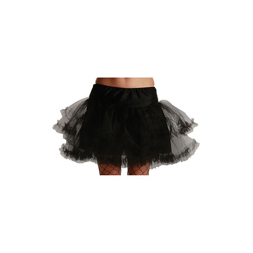 3 Layer Ruffle Petticoat / Black. TS-7130 Wicked