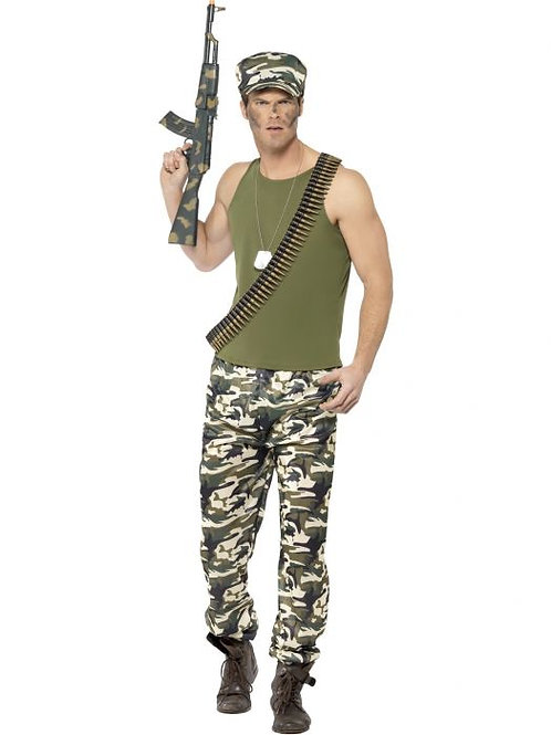 Army Costume, Economy SKU 44659