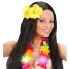 2 Yellow Hibiscus Flowers Hairclip. 1846G W