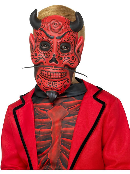 Day of the Dead Devil Mask, Childs, Red. 48134 S