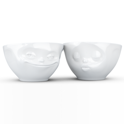 Medium bowls Set No.1 - grinning & kissing