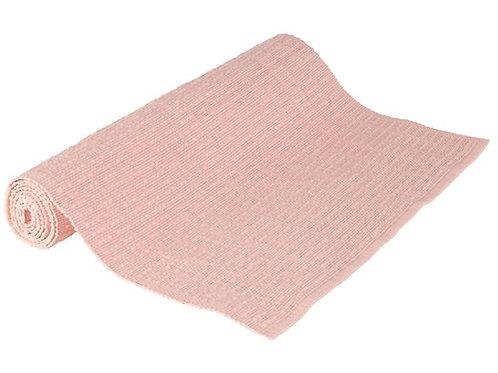 Løper lys rosa vevd bomull 40x140cm SKAGEN