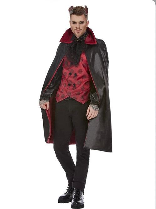 Devil Costume, Red & Black. 63049 Smiffys