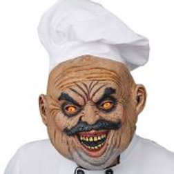 """EVIL COOK FULL HEAD MASK WITH HAT"" W 03308"