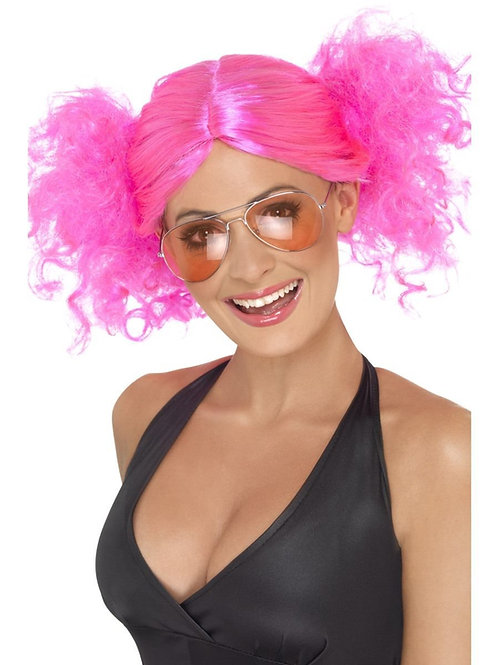 80s Bunches Wig. Pink. 42006 S