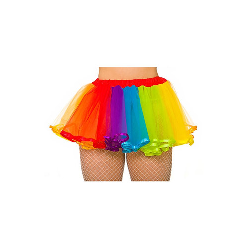 Deluxe Rainbow Tutu with Satin Detail TS-7454 W