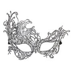 Antique Silver Baroque Lace Eyemask. 04772 W