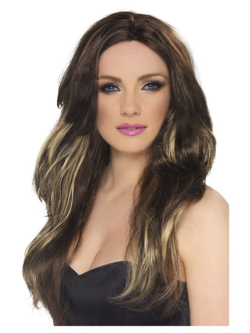 «Temptress Wig, Brown and Blonde, Long, Wavy». 42293 S