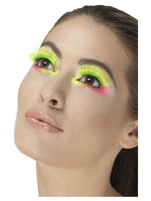 80s Party Eyelashes, Neon Green. 48082 Smiffys