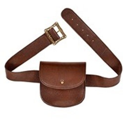 """leather look """"BELT WITH PURSE"""". 09836 W"""