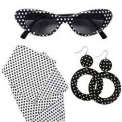 """""""50s LADY"""" (glasses, earrings, neck scarf) W 95717"""
